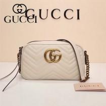 Gucci 447632-01 專櫃時尚新款My Good Life進口小牛皮Marmont相機包