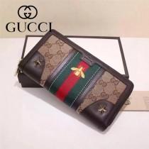Gucci 406745 專櫃時尚新款小蜜蜂系列拉鏈款錢包