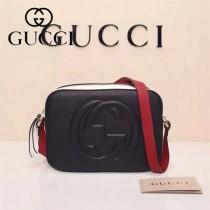 Gucci 308364-28 人氣熱銷時尚新款新配色全皮相機包單肩斜背包