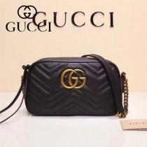 Gucci 447632 專櫃時尚新款My Good Life進口小牛皮Marmont相機包