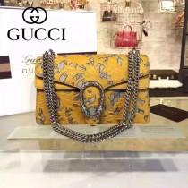 Gucci 400249-017 歐美時尚新款dionysus系列真皮手工雕花織紋虎頭馬刺扣小號酒神包