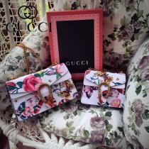 Gucci 400249-016 歐美時尚新款Garden限定系列星星圖案繽紛印花彩繪風格單肩包