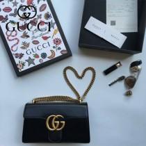 Gucci 431777-01 專櫃時尚新款Marmont系列原單牛皮斜背包