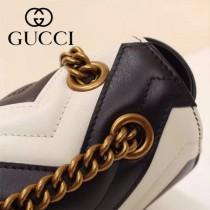 Gucci 443497 專櫃原版皮新款小牛皮Marmont系列仿鹿皮內襯單肩包