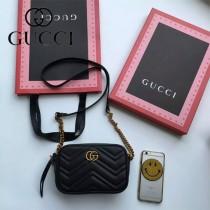 Gucci 448065-01 人氣熱銷時尚款GG marmont系列相機包