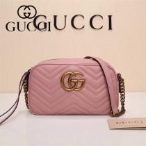 Gucci 447632-02 專櫃時尚新款My Good Life進口小牛皮Marmont相機包