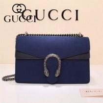 Gucci 400249-020 歐美時尚新款dionysus系列天竺GG磨砂麂皮小號酒神包