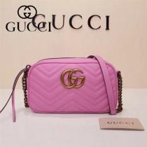 Gucci 447632-04 專櫃時尚新款My Good Life進口小牛皮Marmont相機包