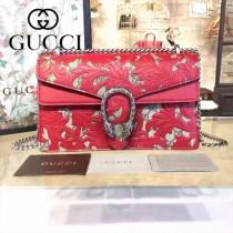 Gucci 400249-018 歐美時尚新款dionysus系列真皮手工雕花織紋虎頭馬刺扣小號酒神包