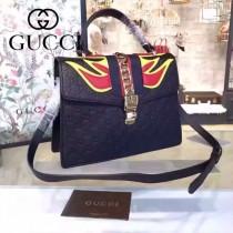 Gucci 431665-07 專櫃時尚新款Sylvie系列限量版手提單肩包
