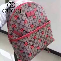 Gucci 271327 專櫃時尚新款貝克漢姆七公主同款mini瓢蟲圖案雙肩包
