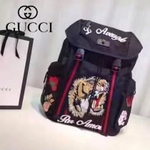 Gucci 429037-01 人氣熱銷時尚新款微微壹笑很傾城楊洋同款虎頭刺繡雙肩包