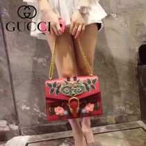 Gucci 400235-016 專櫃時尚新款Dionysus系列狄俄尼索斯限量重工刺繡酒神包