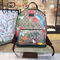 Gucci 428027-03 專櫃時尚新款Gram Tian從林系列印花雙肩包