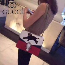 Gucci 400235-015 專櫃時尚新款Dionysus系列狄俄尼索斯限量重工刺繡酒神包