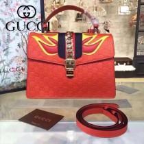 Gucci 431665-08 專櫃時尚新款Sylvie系列限量版手提單肩包