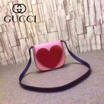 Gucci 432693-01 專櫃時尚新款愛心系列全皮斜背包