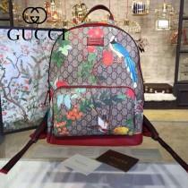 Gucci 428027-02 專櫃時尚新款Gram Tian從林系列印花雙肩包