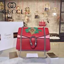 Gucci 400235-017 專櫃時尚新款Dionysus系列狄俄尼索斯限量重工刺繡酒神包