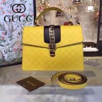 Gucci 431665-06 專櫃時尚新款Sylvie系列限量版手提單肩包