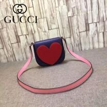 Gucci 432693 專櫃時尚新款愛心系列全皮斜背包