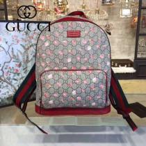 Gucci 428027 專櫃時尚新款Gram Tian從林系列印花雙肩包