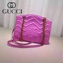 Gucci 443501 歐美時尚新款Marmont拼接波浪紋設計單肩包