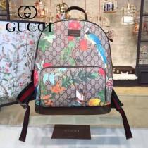 Gucci 428027-01 專櫃時尚新款Gram Tian從林系列印花雙肩包