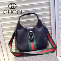 Gucci 444072-03 人氣熱銷限量走秀款dionysus系列純色小牛皮织带款手提肩背包