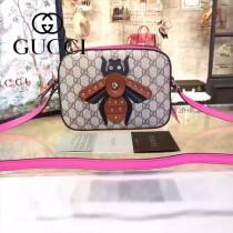 Gucci 412008-03 歐美時尚新款拼色皮小蜜蜂刺繡單肩斜背包