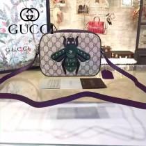 Gucci 412008-05 歐美時尚新款拼色皮小蜜蜂刺繡單肩斜背包