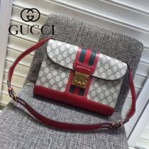 Gucci 441984-01 專櫃時尚新款英倫風系列單肩斜背包