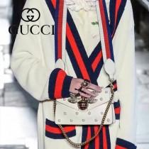 Gucci 451986 專櫃時尚新款蜜蜂與寶石配飾專櫃走秀款肩背包