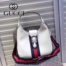 Gucci 444072-04 人氣熱銷限量走秀款dionysus系列純色小牛皮织带款手提肩背包