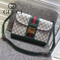 Gucci 441984 專櫃時尚新款英倫風系列單肩斜背包