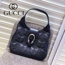 Gucci 444072-02 人氣熱銷限量走秀款dionysus系列純色小牛皮手提肩背包