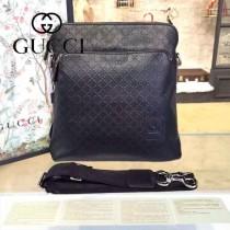 Gucci 854364-01 專櫃時尚新款GUCCI男士全皮經典郵差包