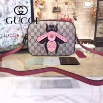 Gucci 412008-04 歐美時尚新款拼色皮小蜜蜂刺繡單肩斜背包
