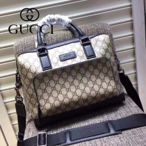 Gucci 429019-03 專櫃時尚新款PVC配牛皮男士公文包