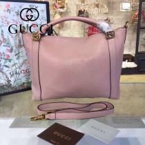 GUCCI 323675-8 潮流百搭女士粉色全皮手提單肩包購物袋