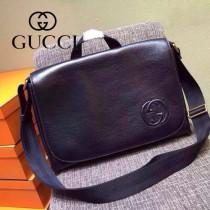 GUCCI 353621-2 型男必備黑色全皮手提單肩包郵差包