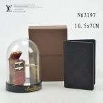 LV N63197 時尚經典款黑色壓格紋原版皮兩折卡片夾
