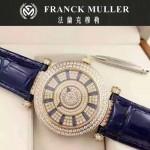 Franck Muller-26 名媛摯愛神秘時間系列土豪金滿天星鑲鑽2836全自動機機械腕錶