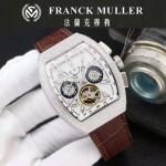 Franck Muller-27-011 潮流時尚新款純手工精工鑲嵌礦物質耐磨玻璃進口機芯男士腕表