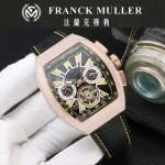 Franck Muller-27-019 潮流時尚新款純手工精工鑲嵌礦物質耐磨玻璃進口機芯男士腕表