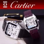 CARTIER-303-03 時尚新款卡地亞壹百周年紀念山度士系列情侶款式瑞士石英腕表