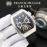 Franck Muller-27-02 潮流時尚新款純手工精工鑲嵌礦物質耐磨玻璃進口機芯男士腕表