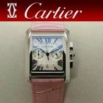 CARTIER-305-5 時尚新款TANK MC CHRONOGROPH多功能跑秒石英腕錶