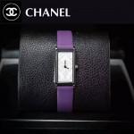 CHANEL-01-8 時尚女士新款紫色配白底316精鋼錶殼進口石英腕錶
