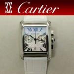 CARTIER-305-2 時尚新款TANK MC CHRONOGROPH多功能跑秒石英腕錶